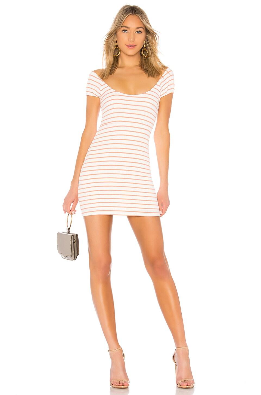 Privacy Please Reyes Mini Dress in Peach Stripe