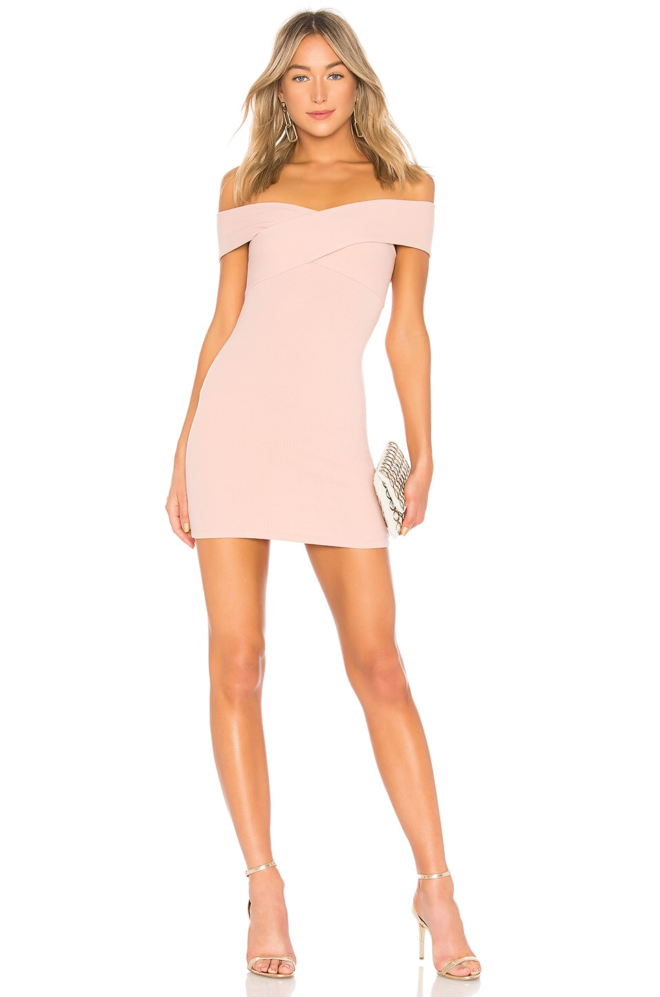 Privacy Please Bandini Mini Dress in Baby Pink