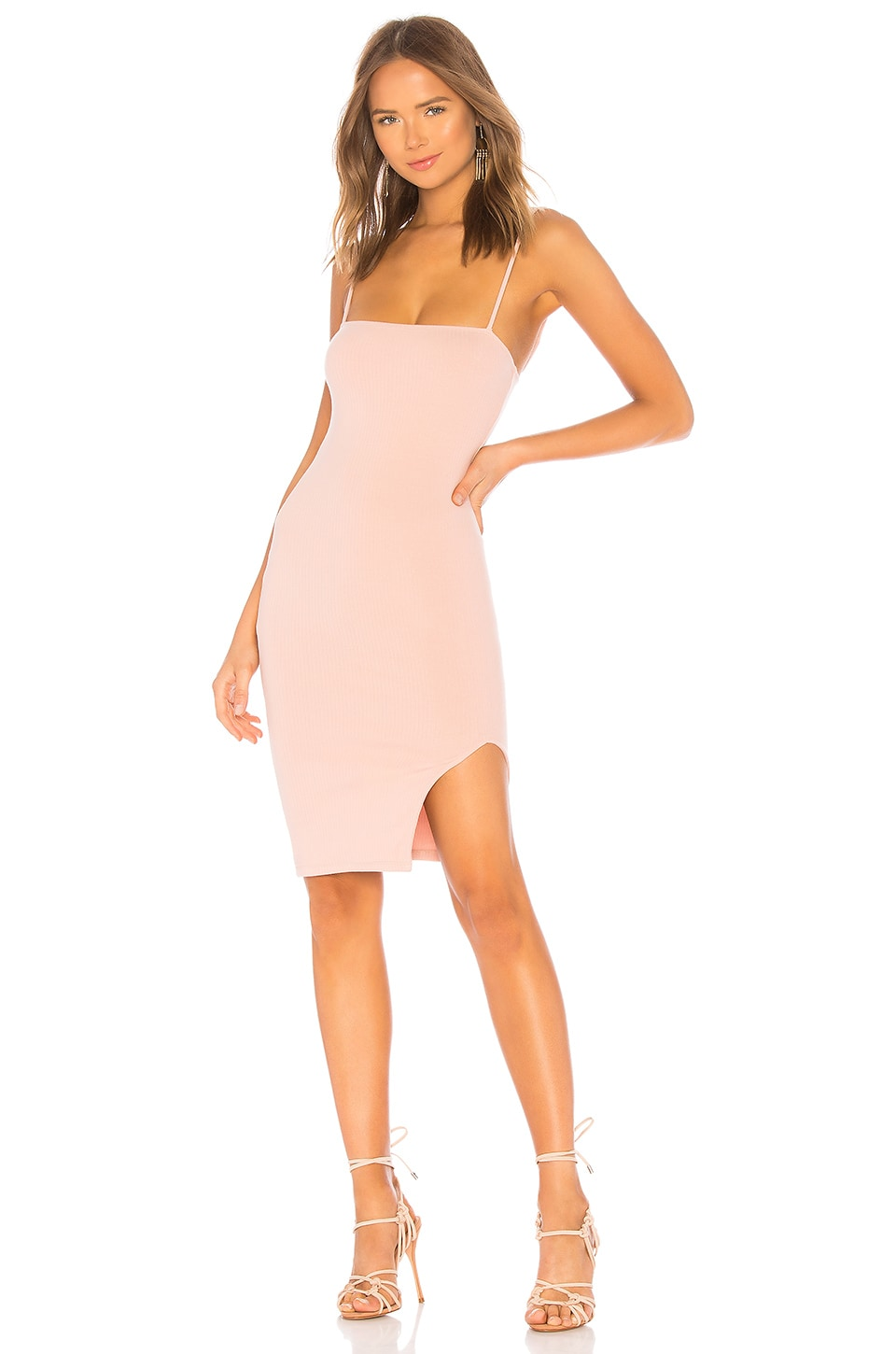 Privacy Please Cypress Midi Dress in Baby Pink