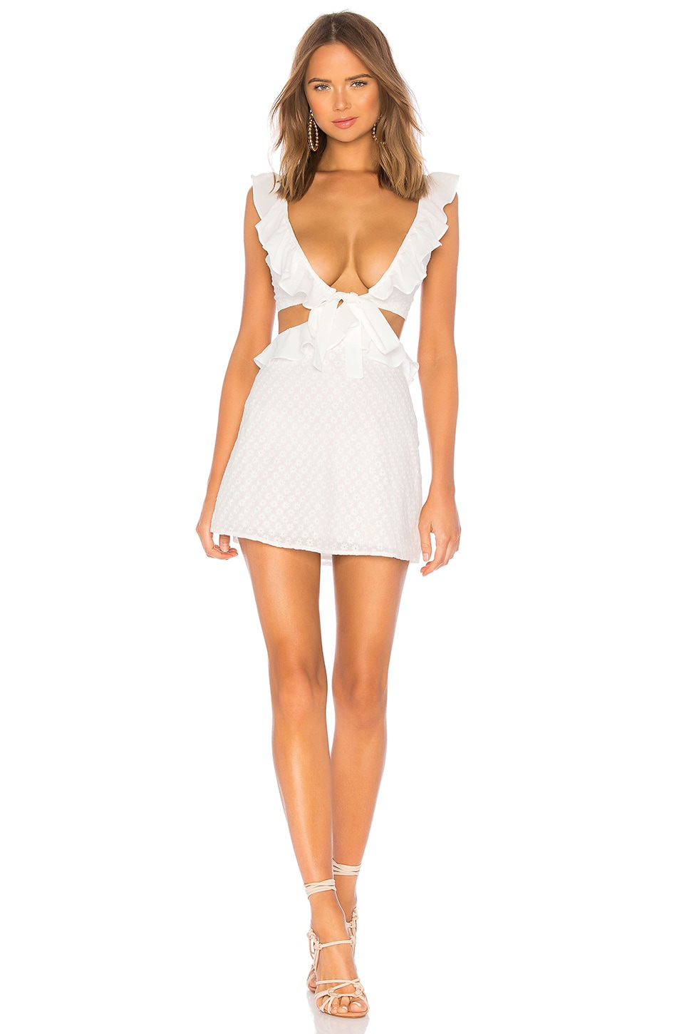 Privacy Please Lang Mini Dress in White
