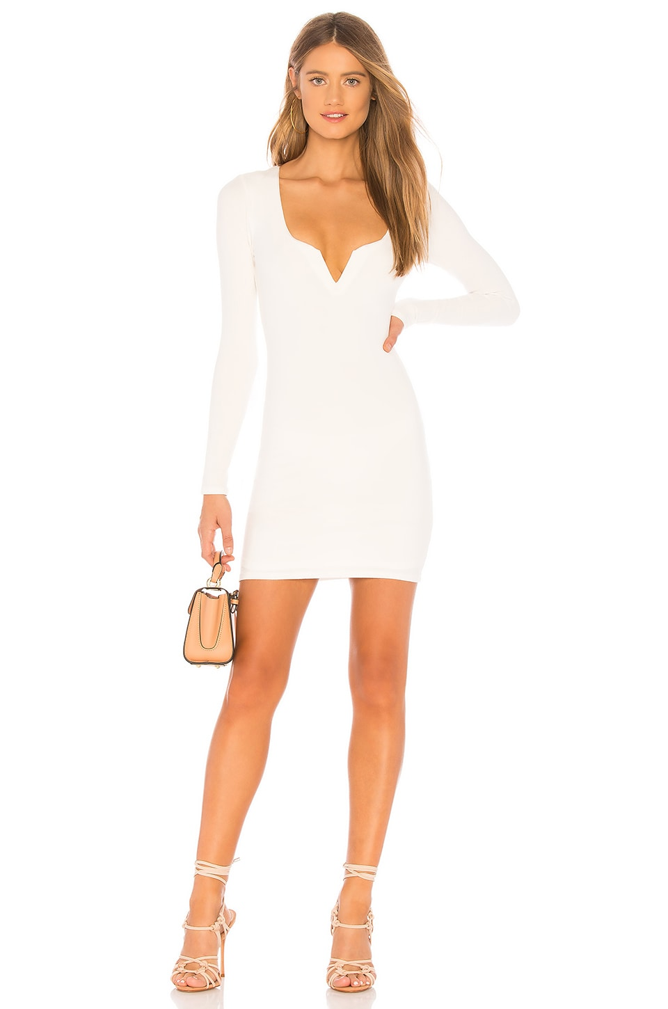 Privacy Please Scene Mini Dress in Ivory