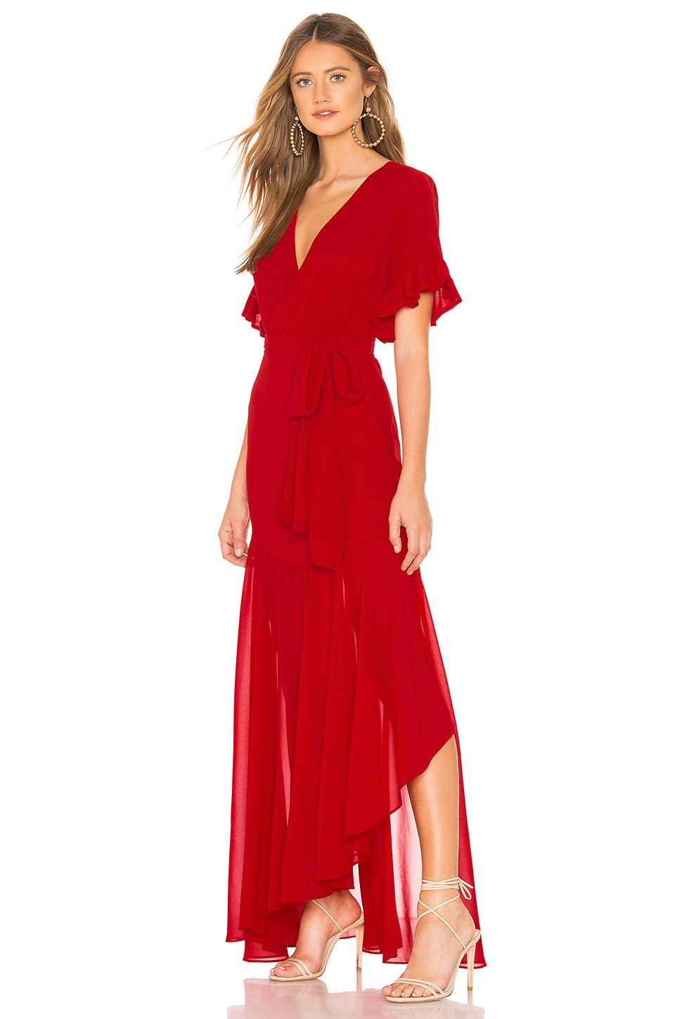 Privacy Please Chrysanthemum Gown in Red Lobster