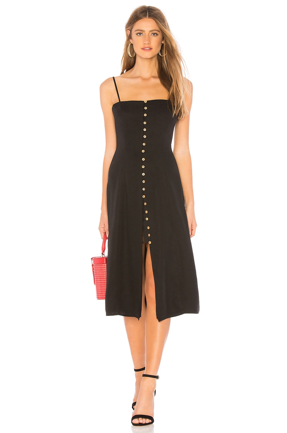 Privacy Please Dex Midi Dress in Black