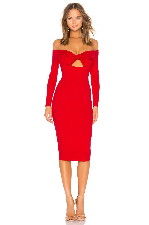 Privacy Please Lindsay Midi Dress in Scarlet