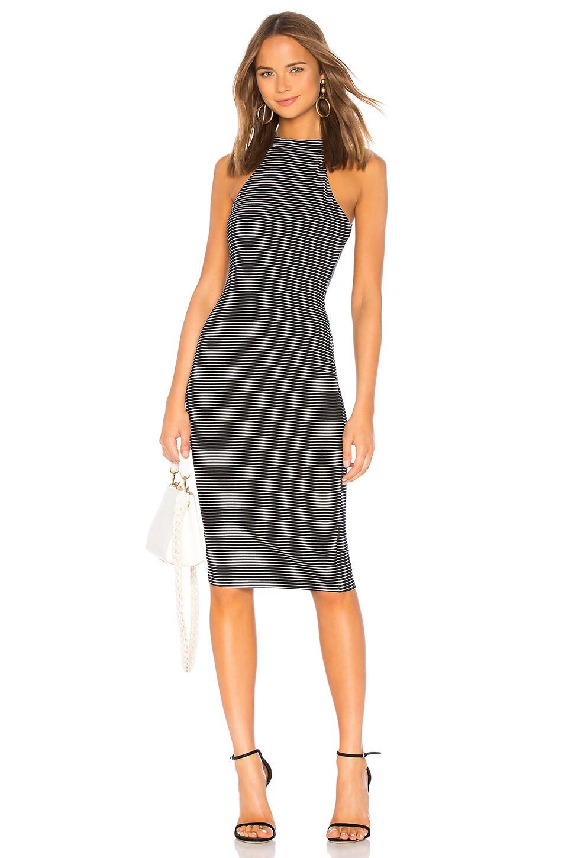 Privacy Please Amy Midi Dress in Black & White
