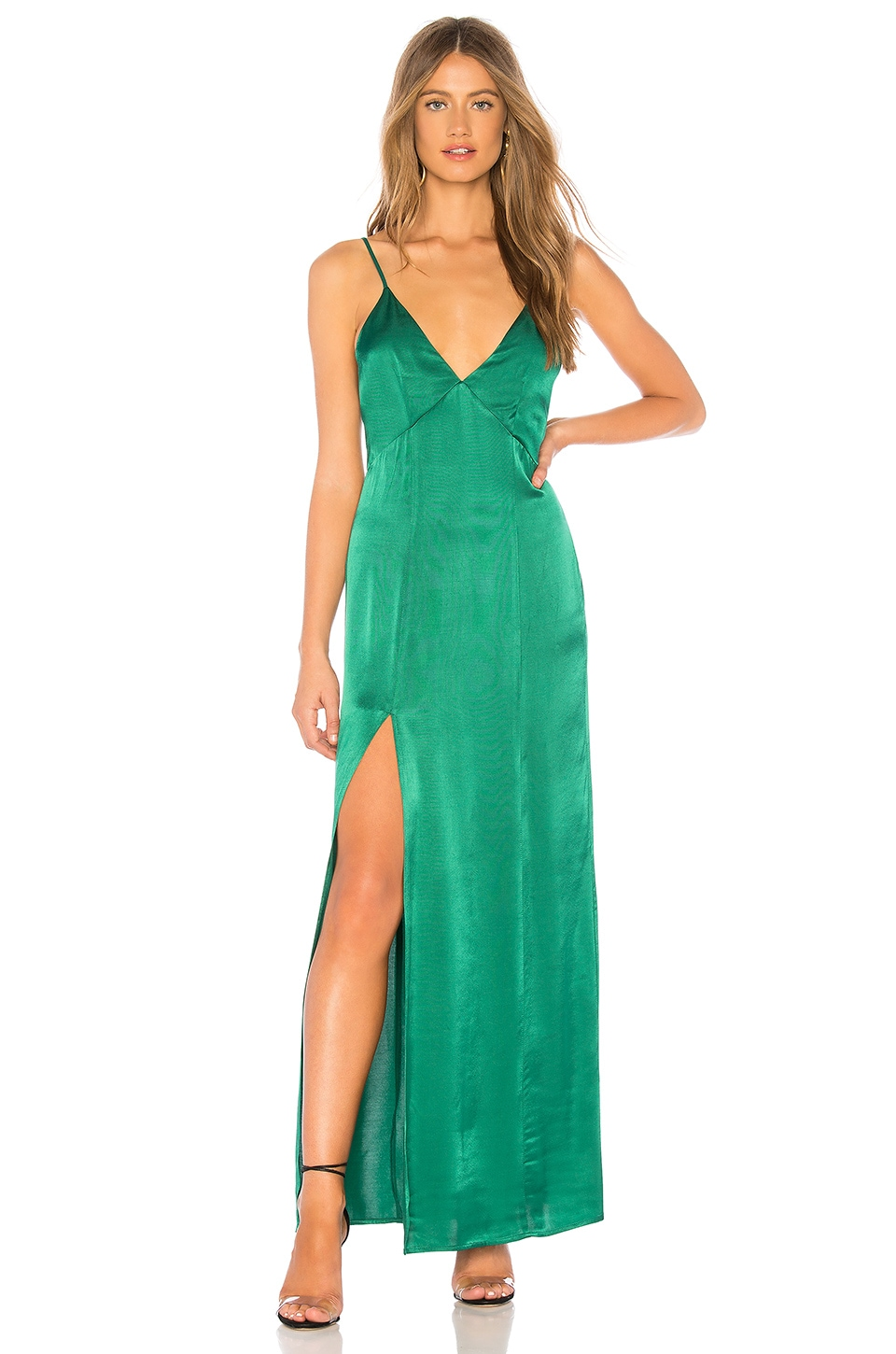 Privacy Please Bridge Maxi Dress in Emerald
