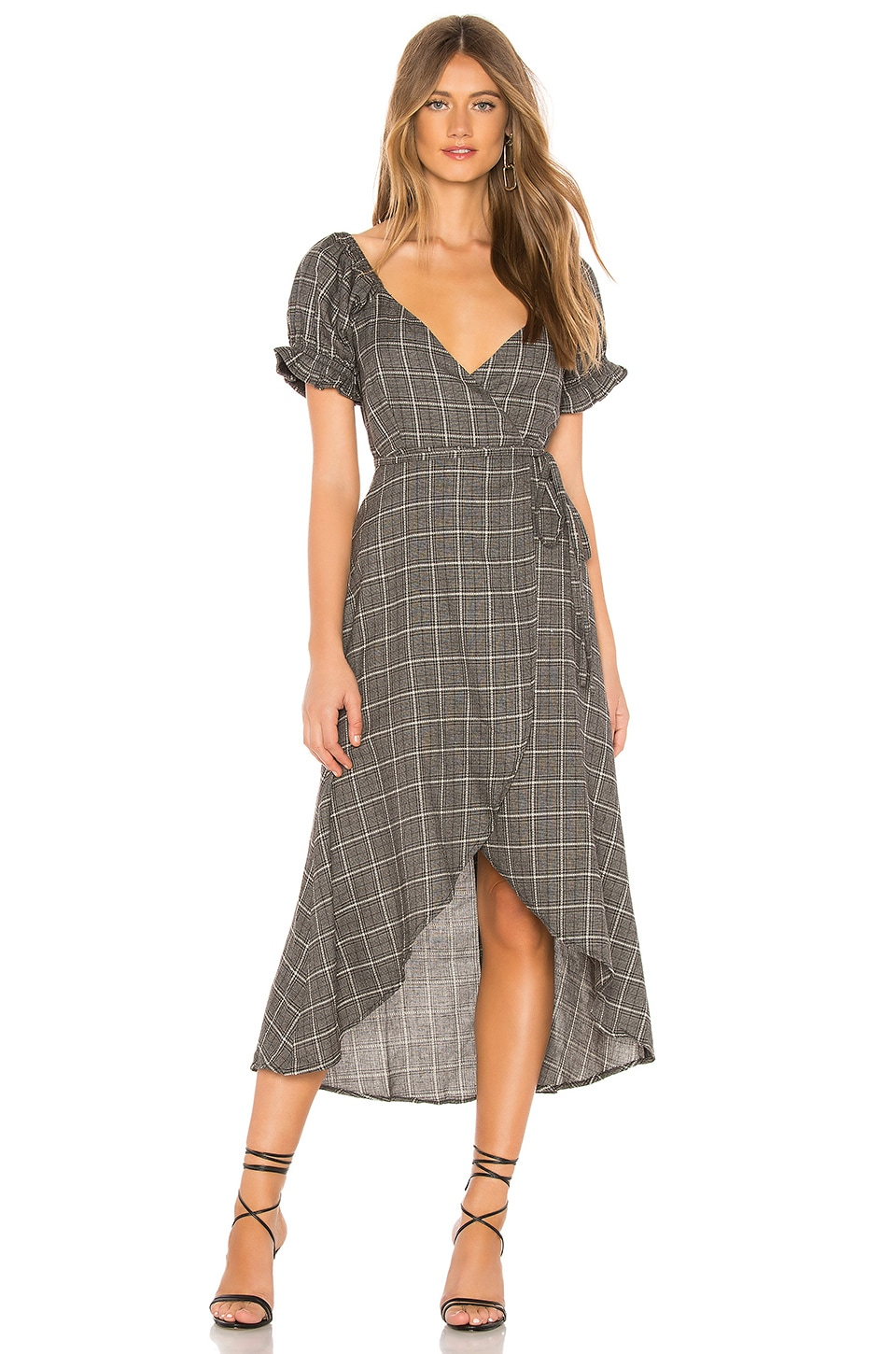 Privacy Please Kylie Maxi Dress in Grey