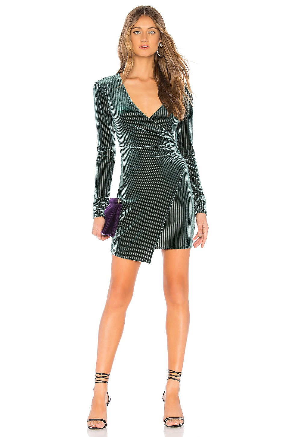 Privacy Please Hayden Mini Dress in Moss Green