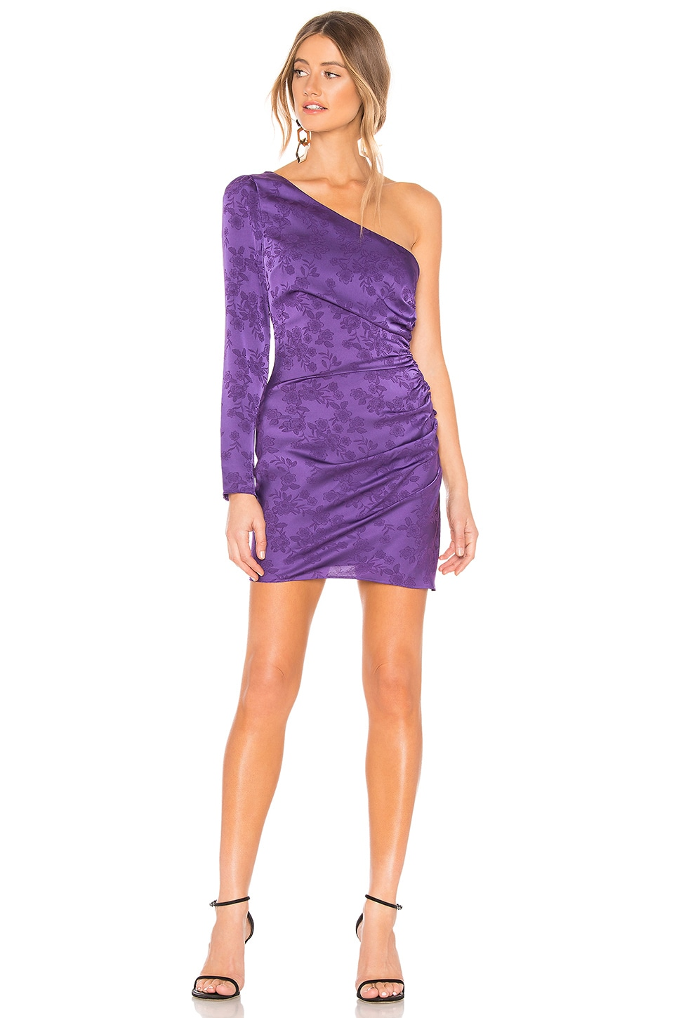 Privacy Please Kerry Mini Dress in Purple
