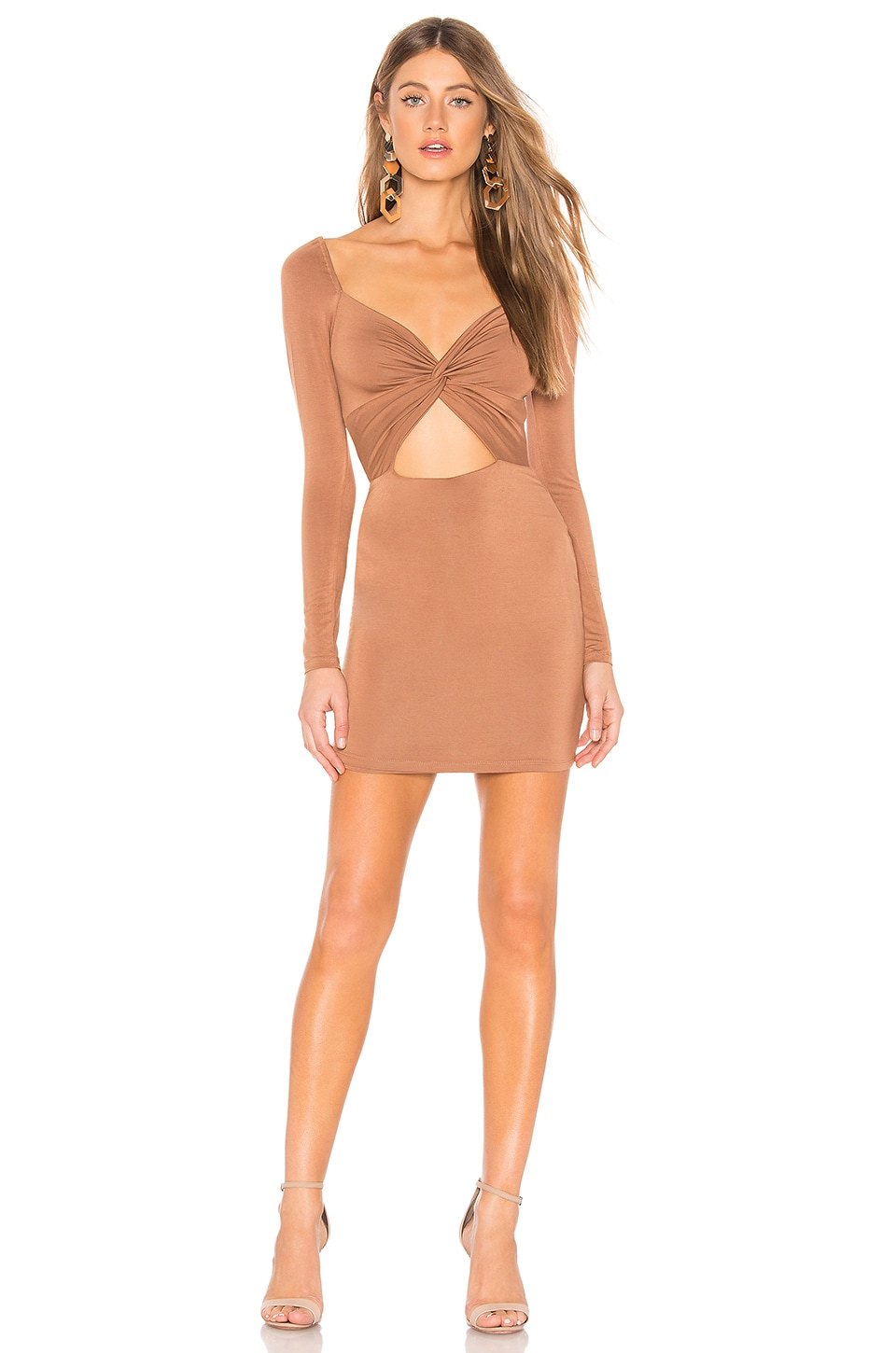 Privacy Please Adelaide Mini Dress in Cocoa