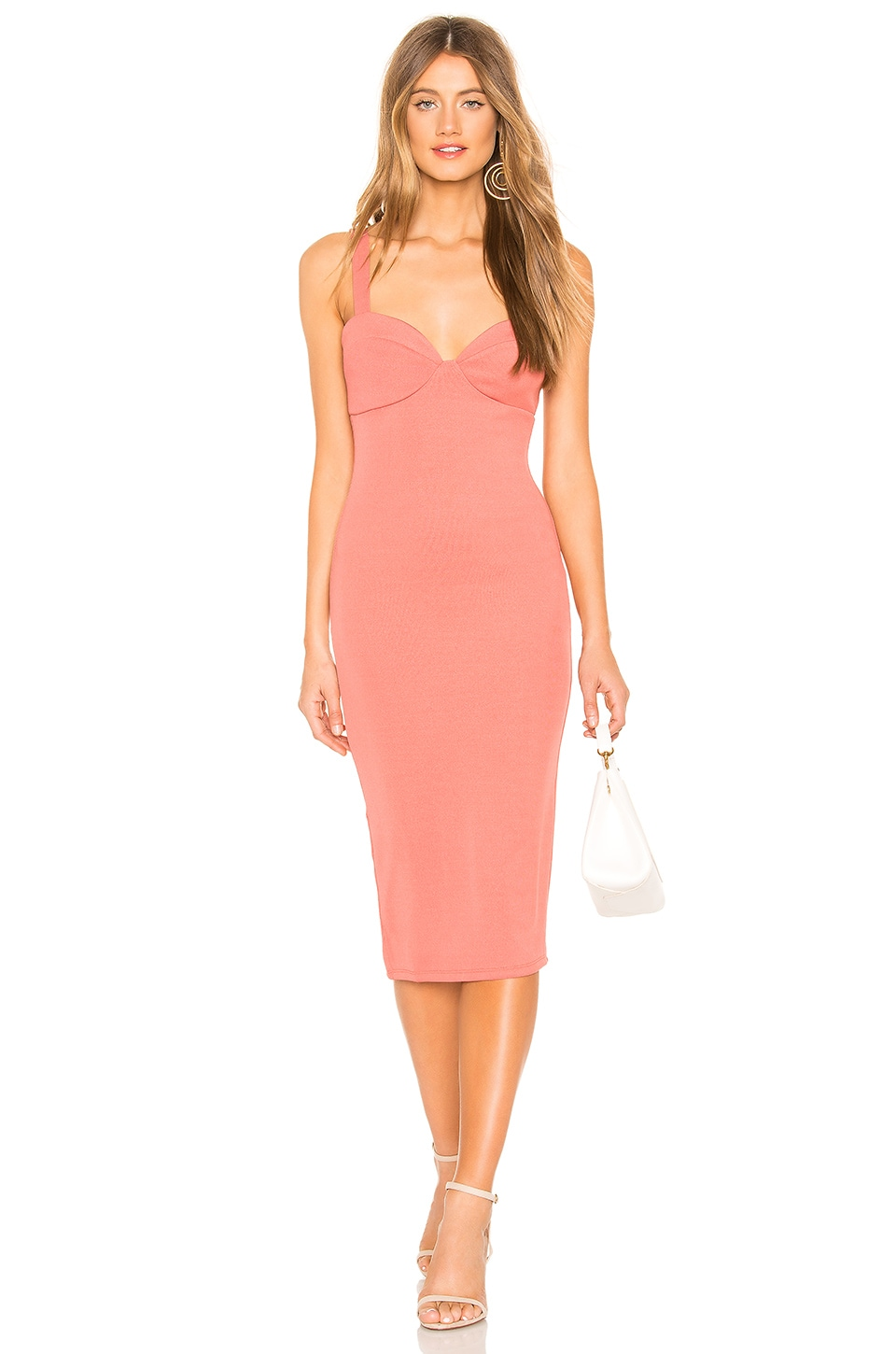 Privacy Please Peyton Midi Dress in Rose