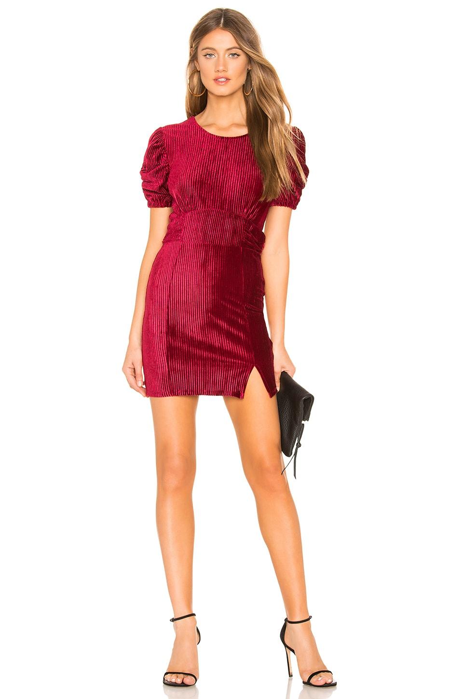 Privacy Please Olivia Mini Dress in Burgundy