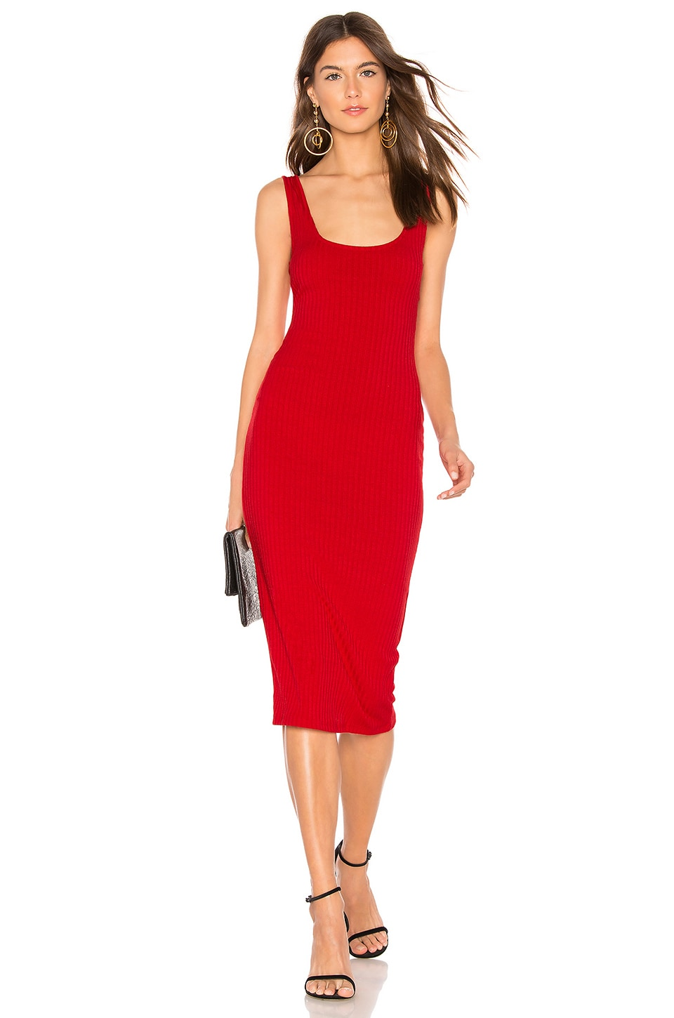 Privacy Please Afton Midi Dress in Red