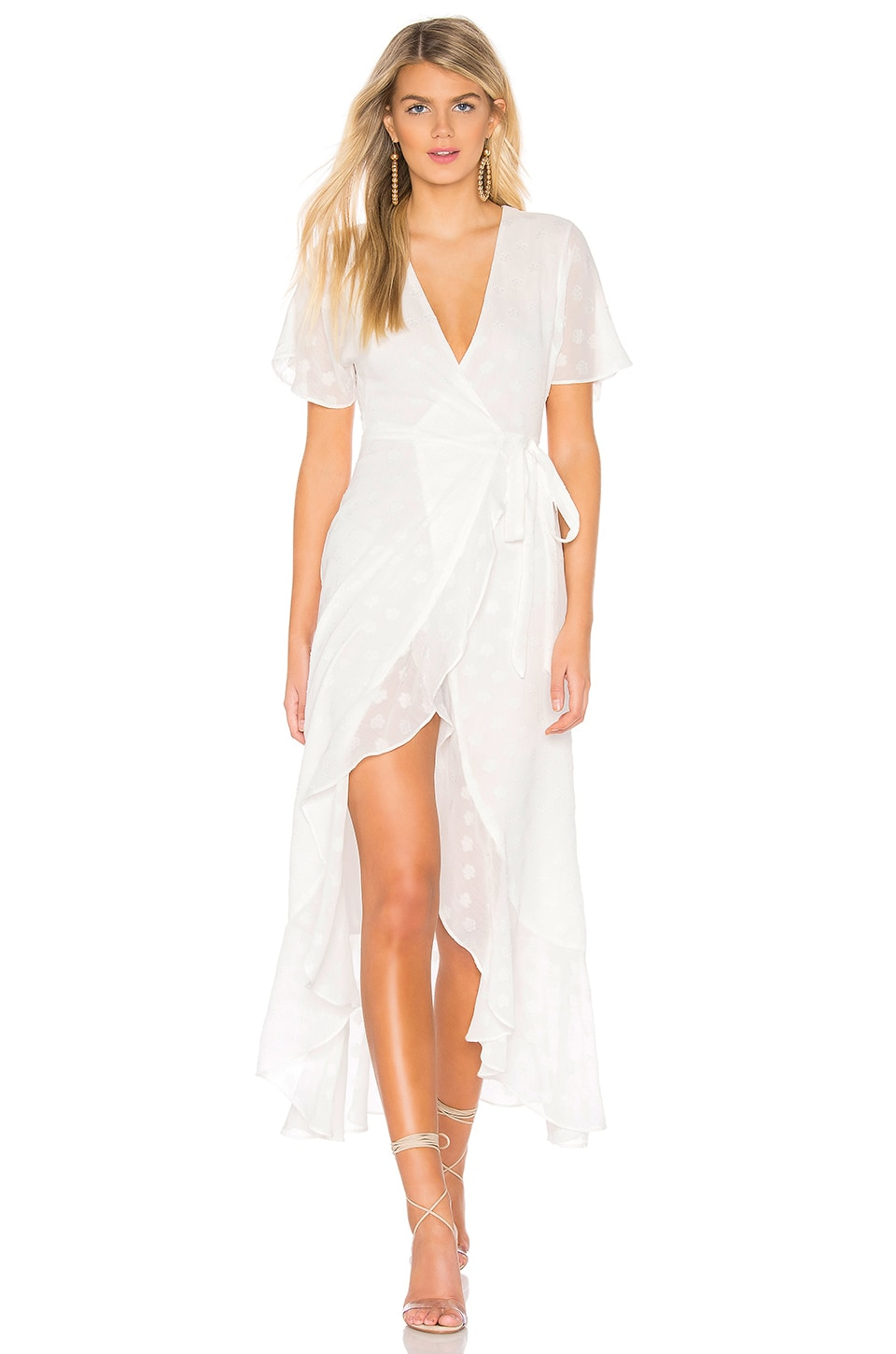 Privacy Please Alaina Maxi Dress in White