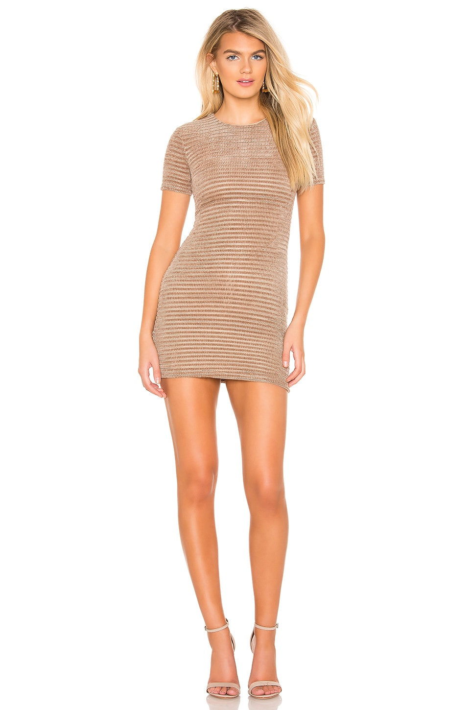 Privacy Please Adele Mini Dress in Hazelnut