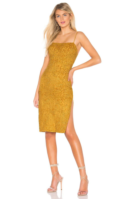 Privacy Please Hesperia Midi Dress in Gold