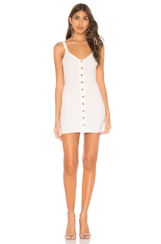 Privacy Please Clarissa Mini Dress in Coconut White