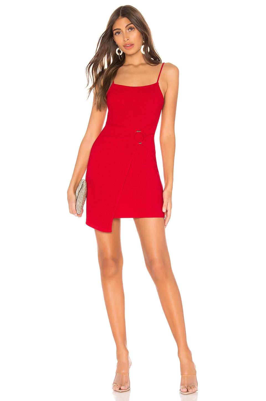 Privacy Please Sandy Mini Dress in Watermelon Red