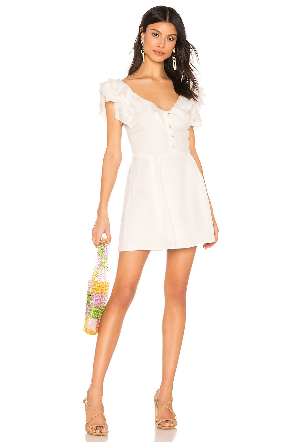 Privacy Please Umber Dress in White