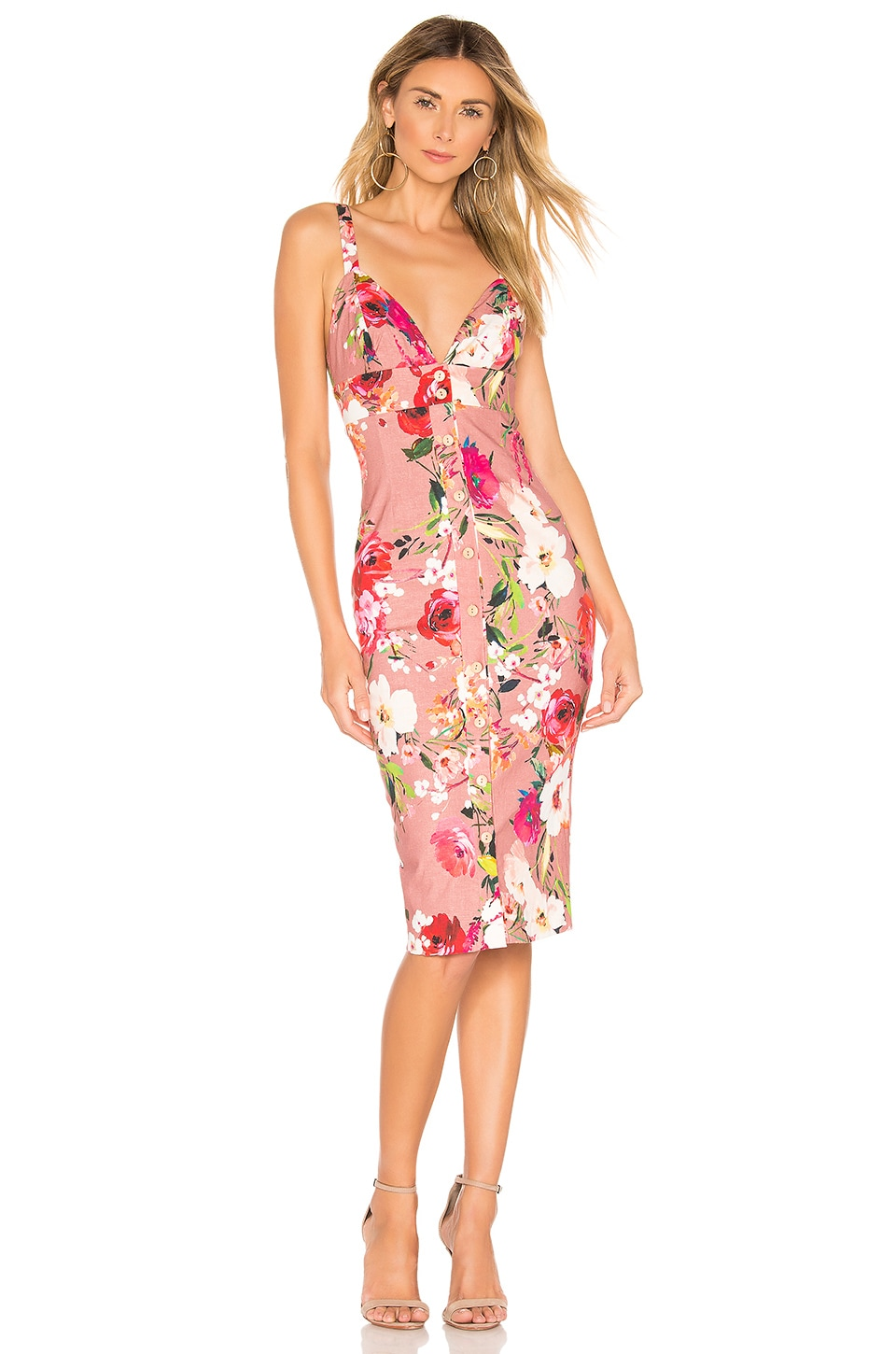 Privacy Please Lantana Midi in Mauve Amy Floral