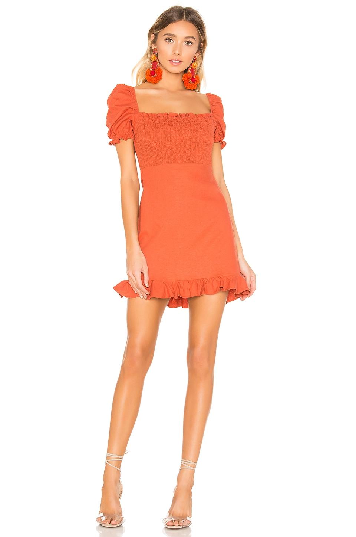 Privacy Please Bonita Mini Dress in Burnt Orange