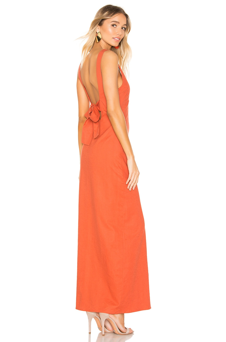 Privacy Please Redondo Maxi Dress in Burnt Orange