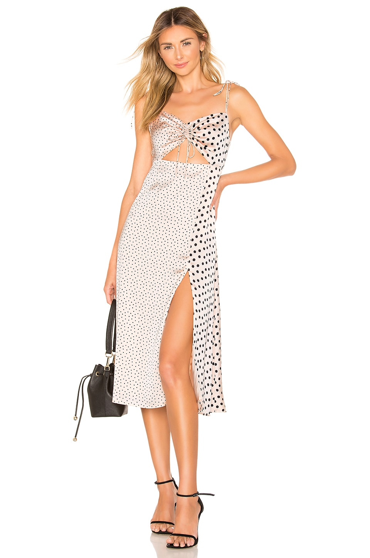 Privacy Please Venice Midi Dress in Nude & Black