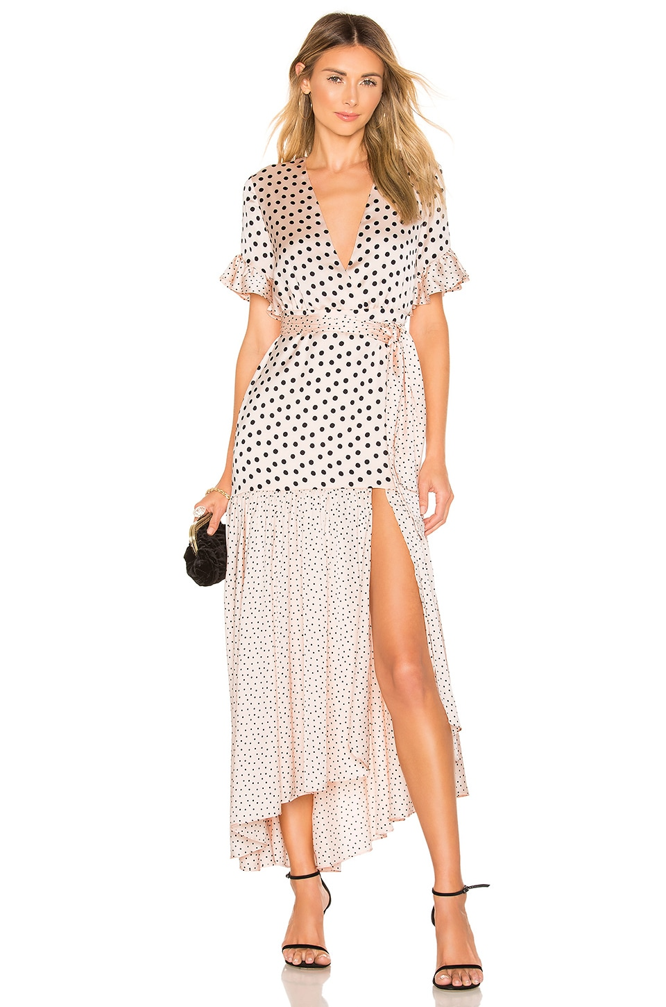 Privacy Please Solana Maxi Dress in Nude & Black