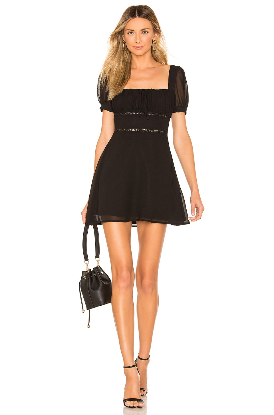 Privacy Please Barlow Mini Dress in Black
