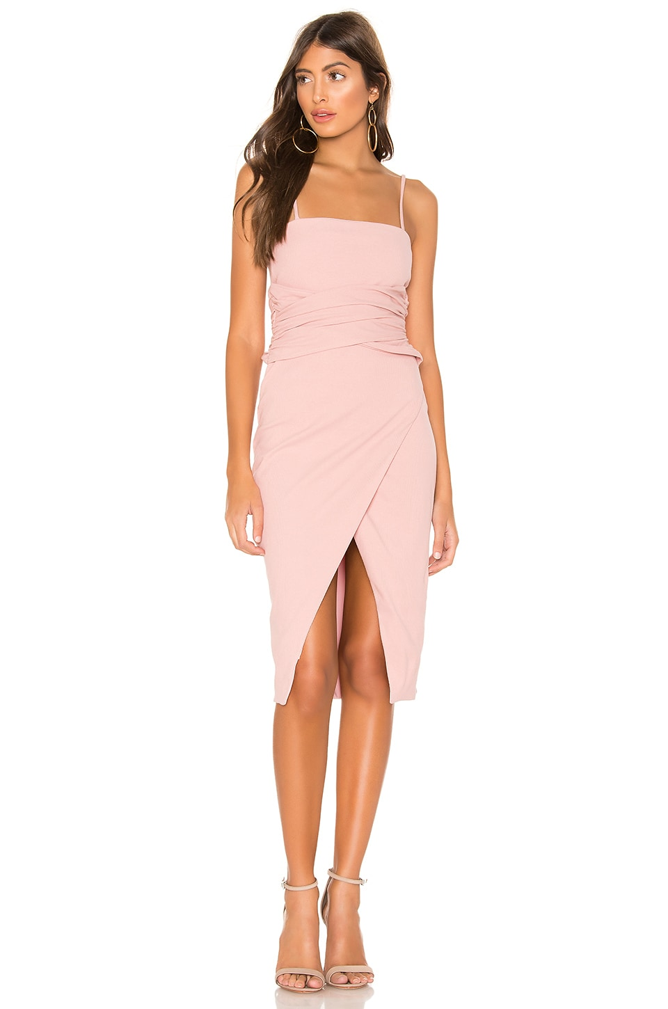 Privacy Please Rhoda Midi Dress in Mauve