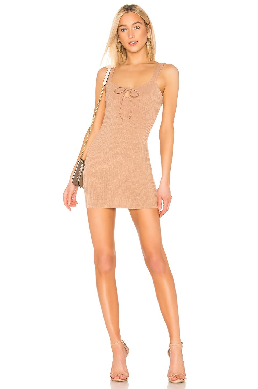 Privacy Please Julia Mini Dress in Latte