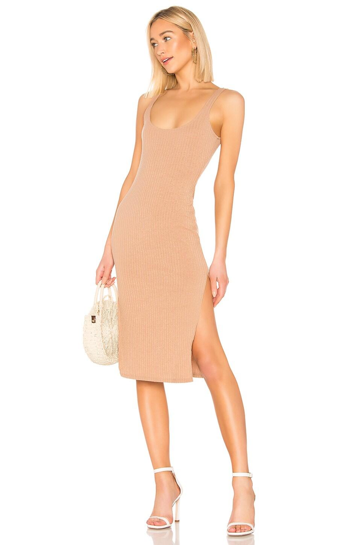 Privacy Please Aimee Midi Dress in Latte