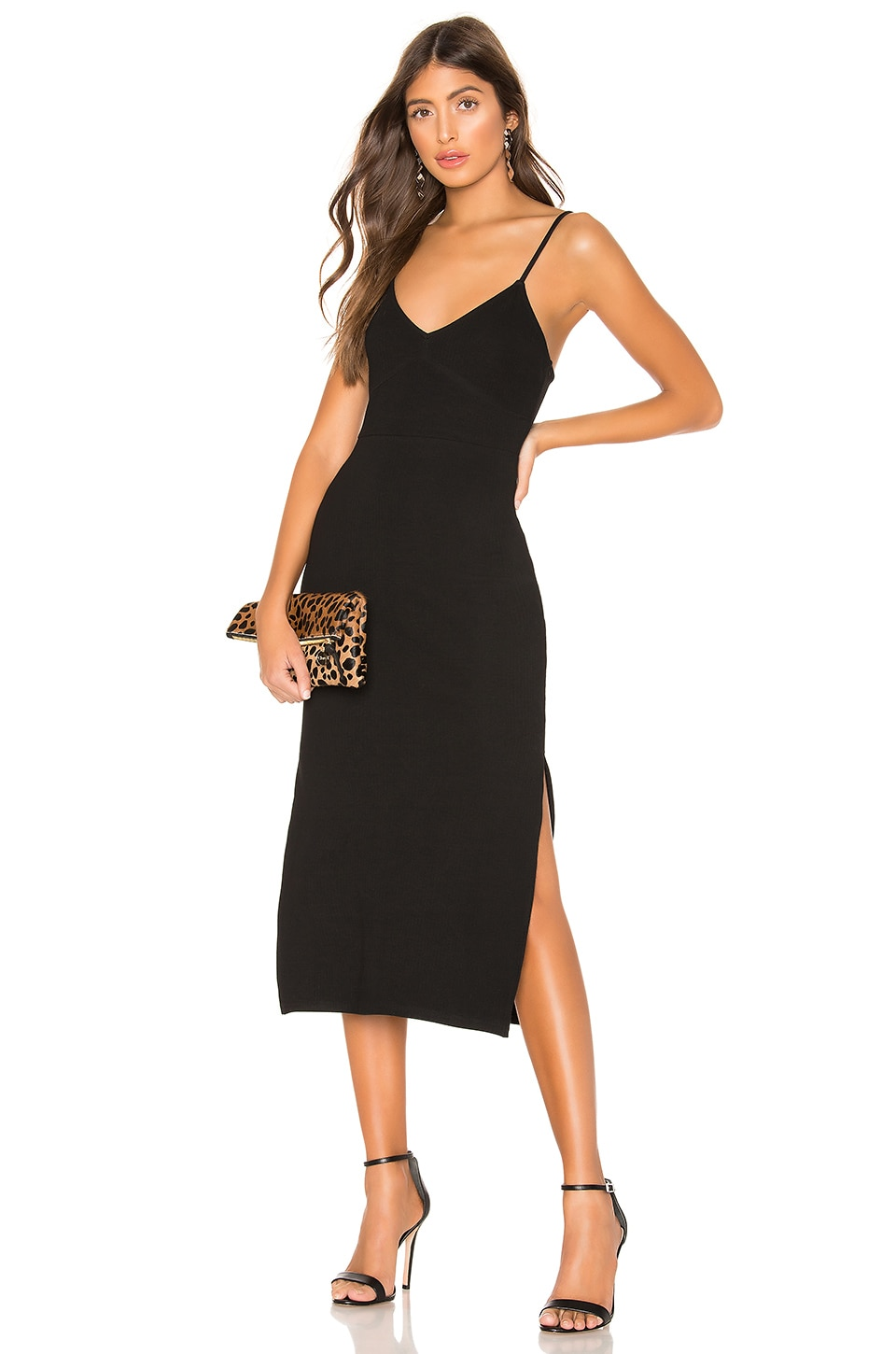 Privacy Please Bette Midi Dress in Black