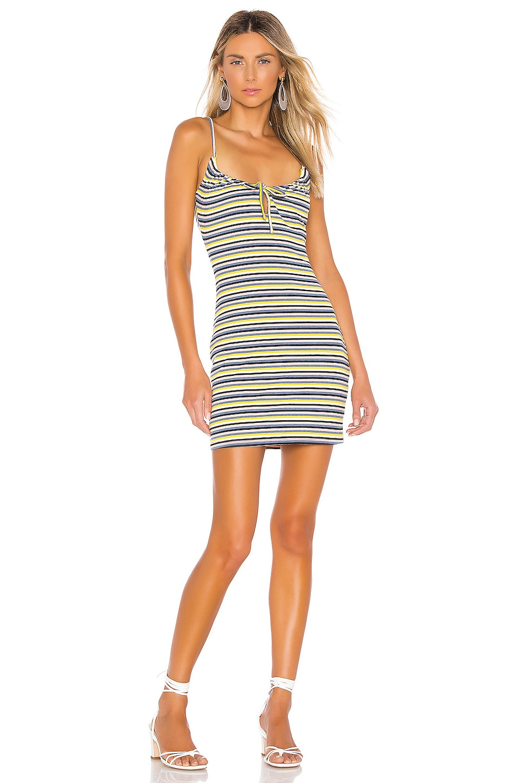 Privacy Please Grace Mini Dress in Yellow Stripe