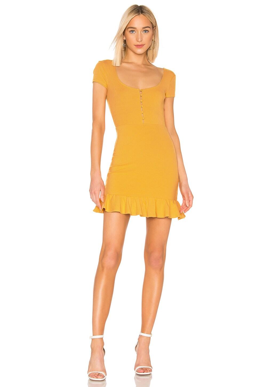 Privacy Please Naomi Mini Dress in Yellow