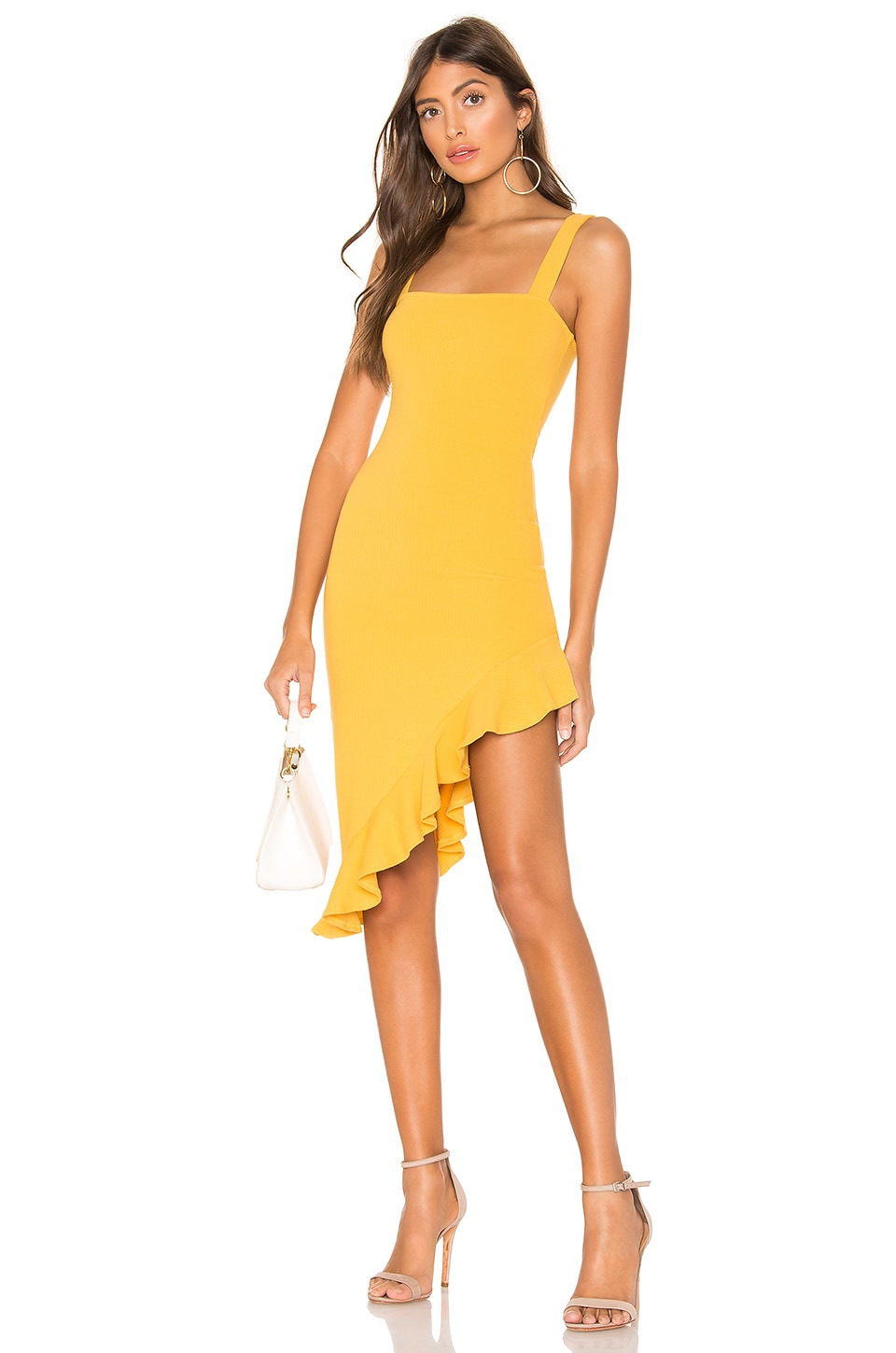 Privacy Please Giselle Midi Dress in Yellow
