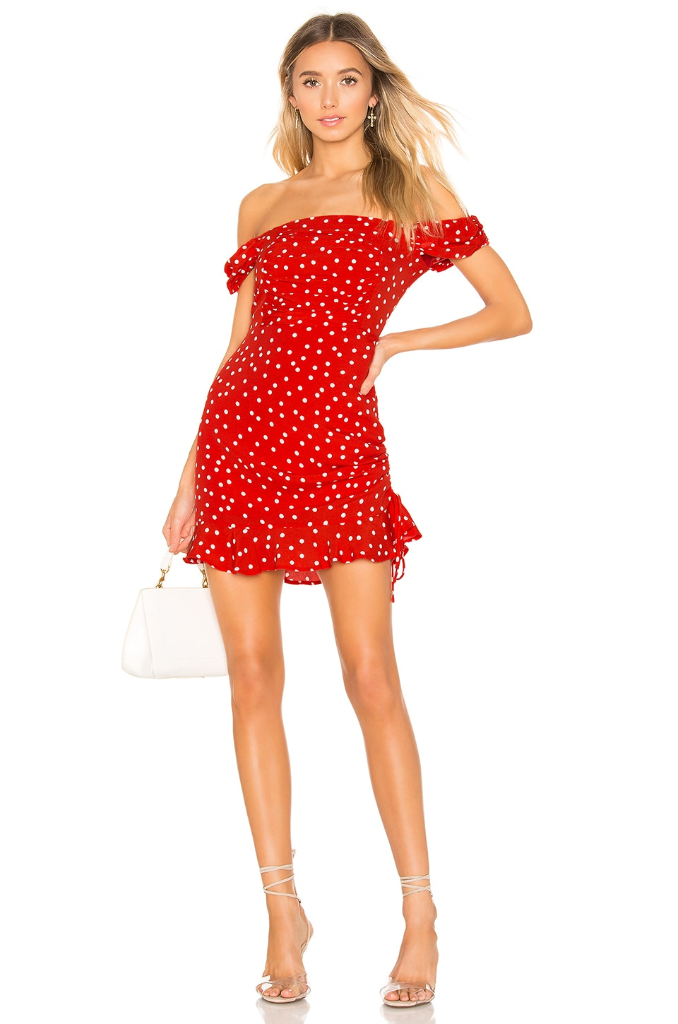 Privacy Please Rosario Mini Dress in Red & Ivory