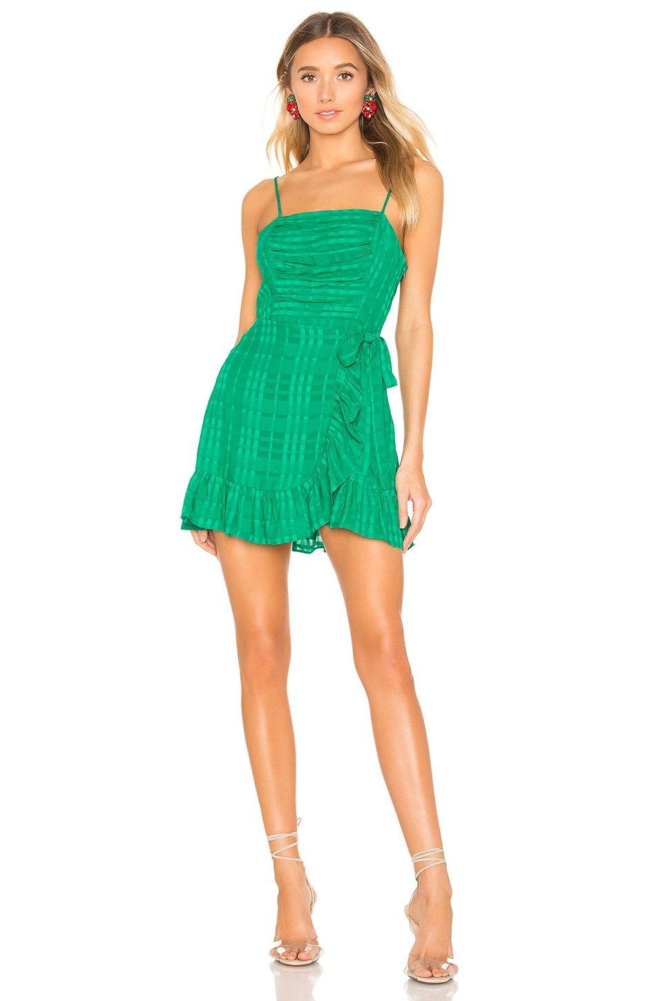 Privacy Please Henley Mini Dress in Green