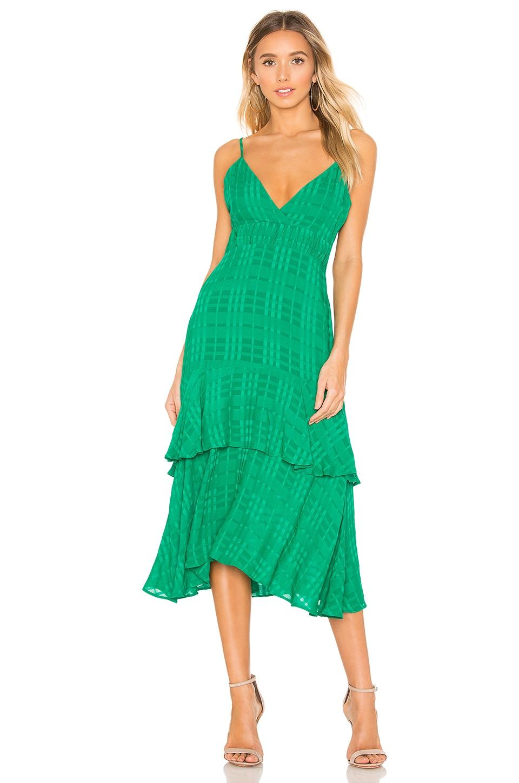 Privacy Please Shayla Midi Dress in Green