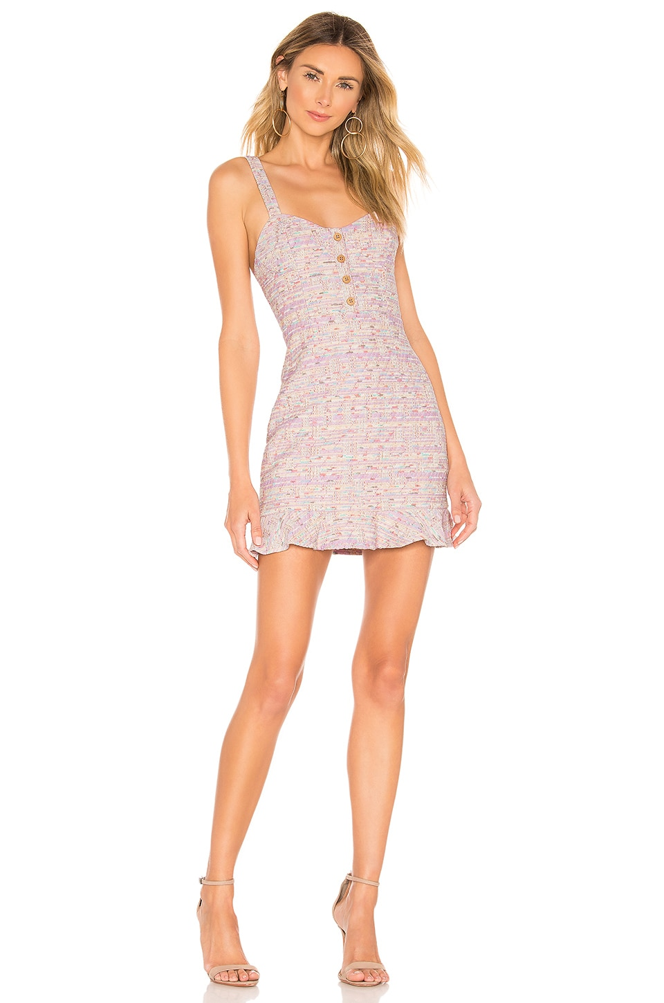 Privacy Please Raquel Mini Dress in Lavender Multi
