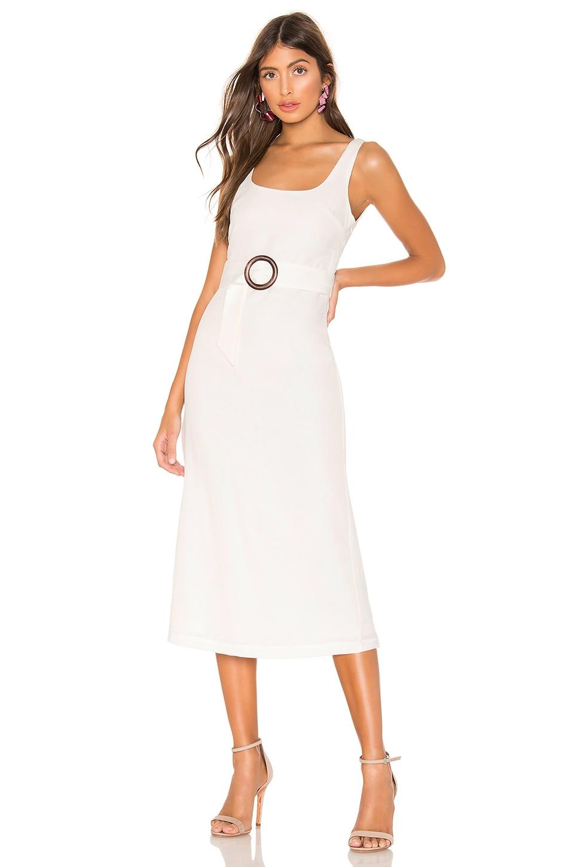 Privacy Please Luz Midi Dress in White