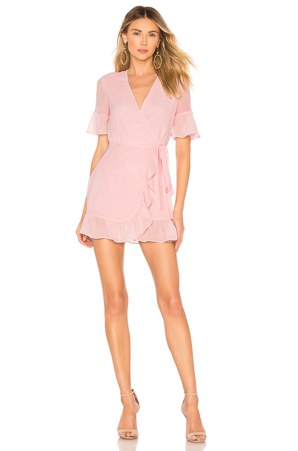 Privacy Please May Mini Dress in Baby Pink