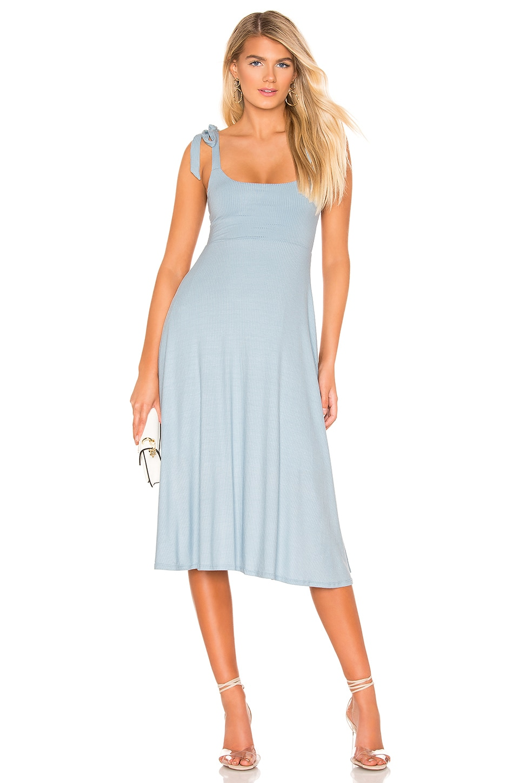 Privacy Please Sable Midi Dress in Columbia Blue