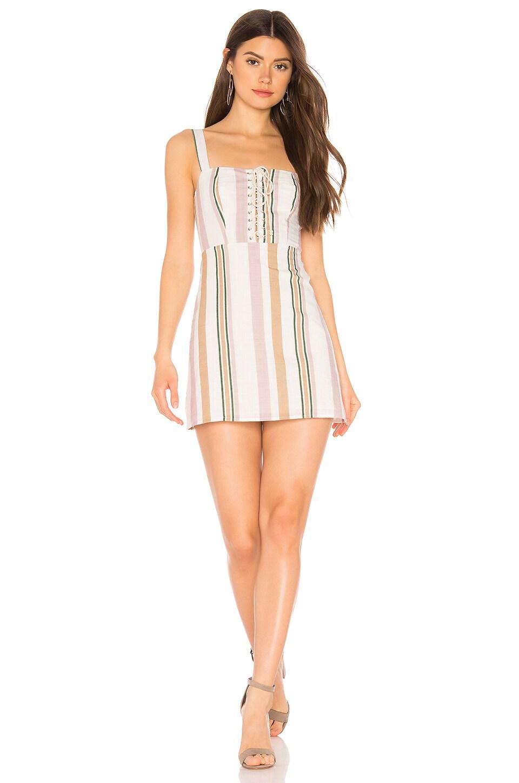 Privacy Please Alana Mini Dress in Multi Stripe