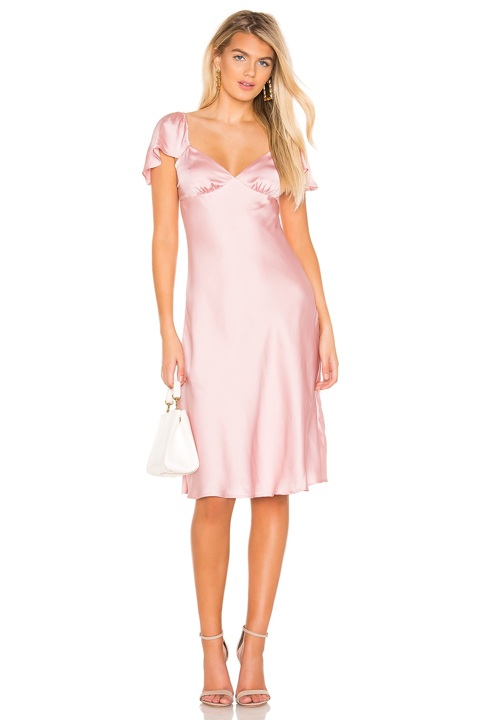 Privacy Please Juniper Midi Dress in Dusty Pink