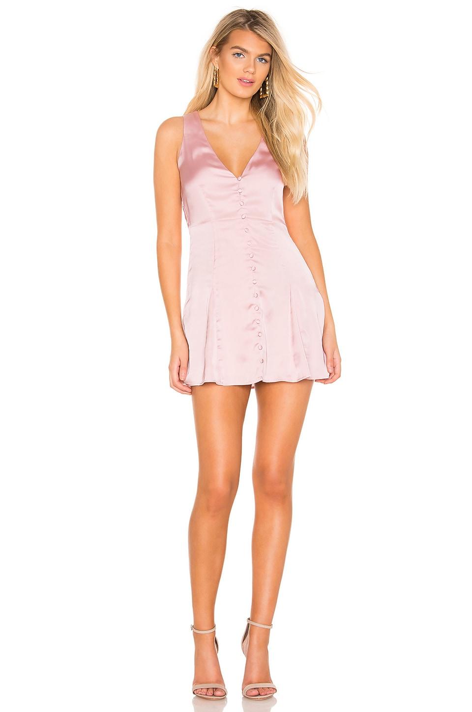 Privacy Please Erika Mini Dress in Dusty Pink