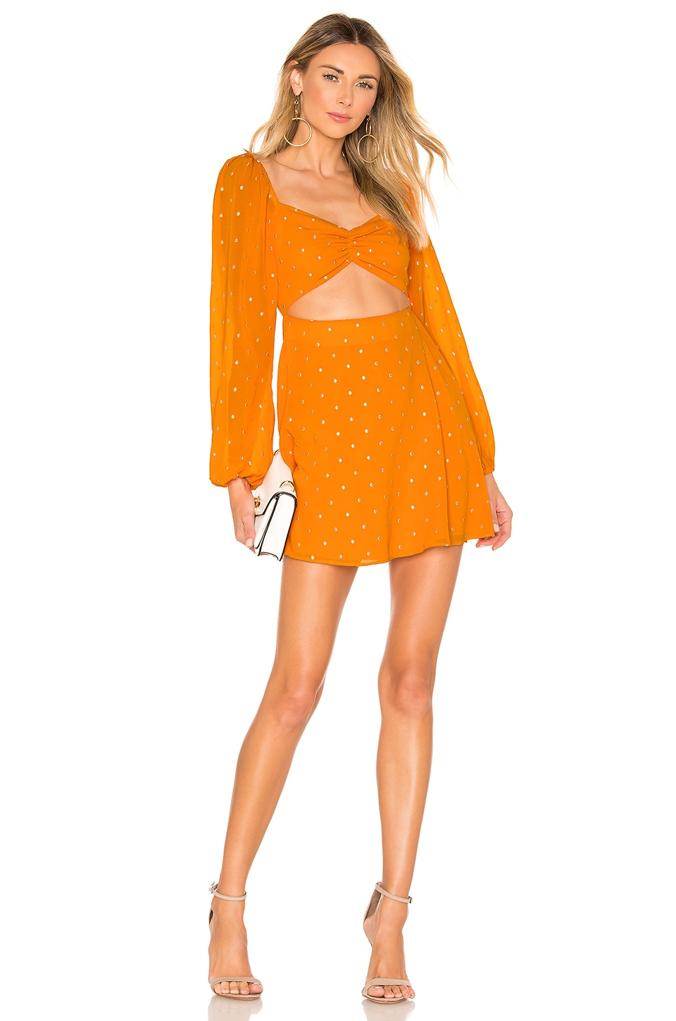 Privacy Please Nich Mini Dress in Marigold