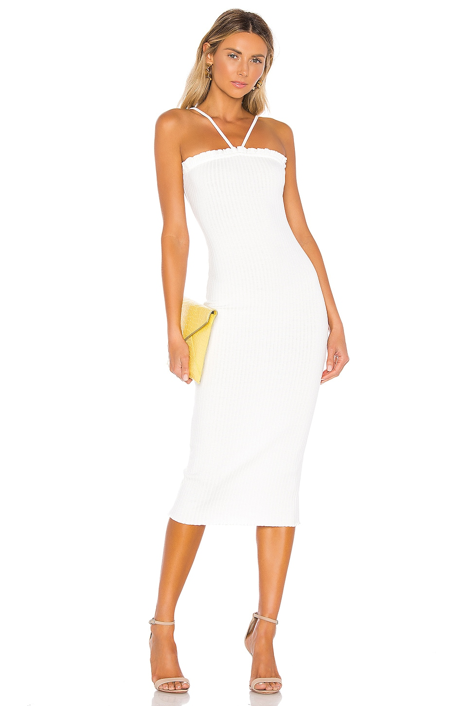 Privacy Please Escondido Midi Dress in Ivory