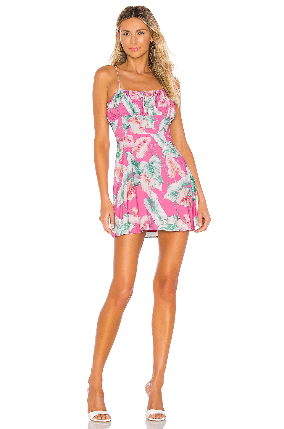 Privacy Please Julien Mini Dress in Pink Tropical Floral