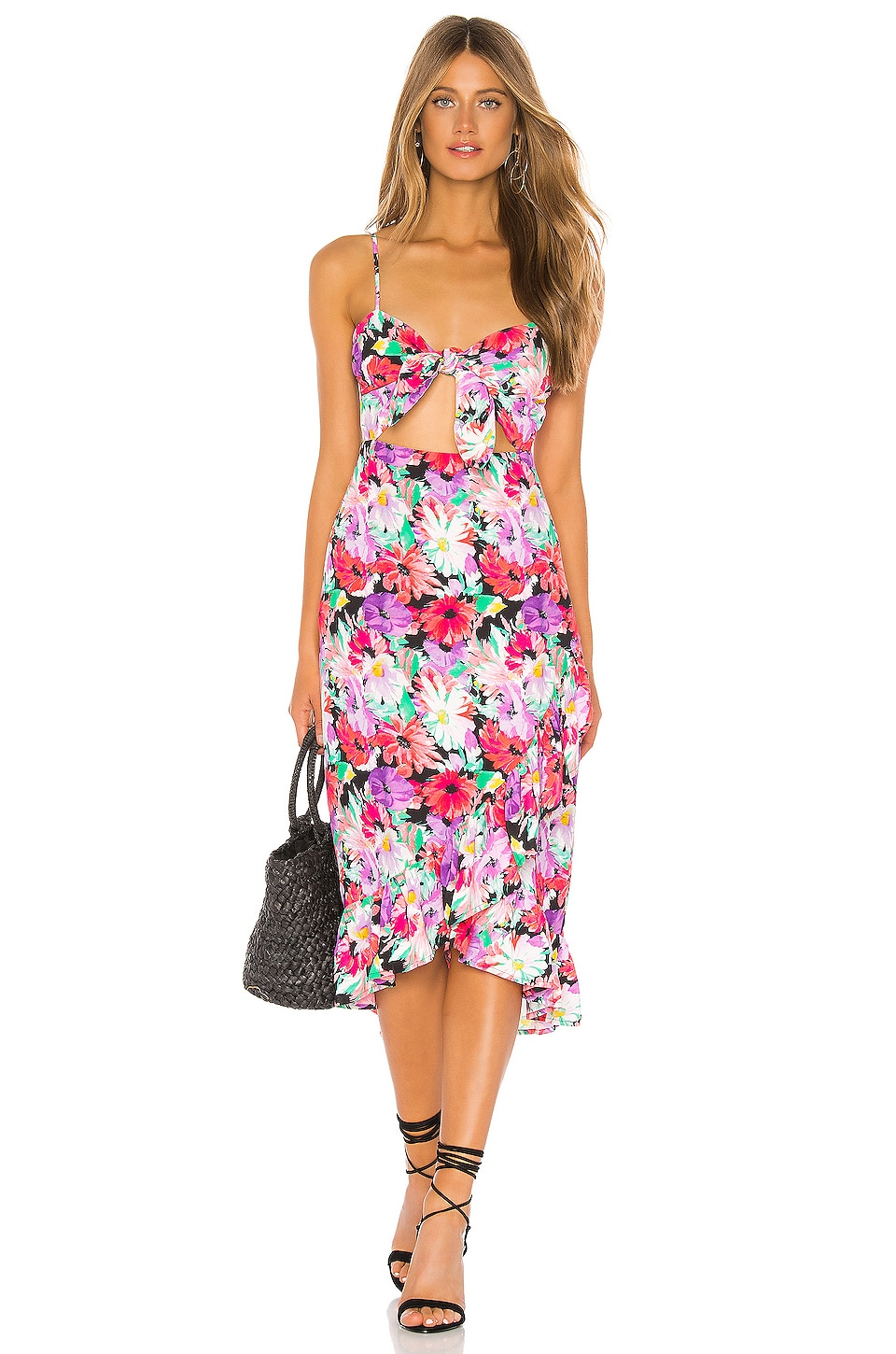 Privacy Please Clinton Midi Dress in Barbara Floral